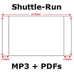 Shuttle-Run-Test - mit MP3