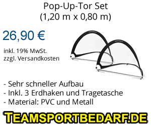 Fußball Pop-Up-Tore